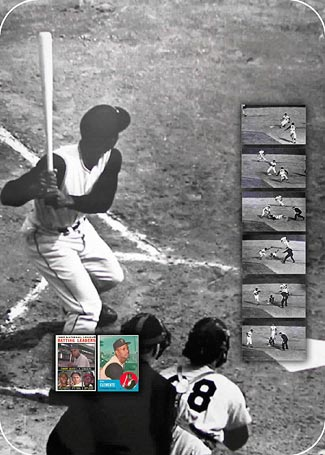 Image: Montage of photos depicting Clemente playing baseball.